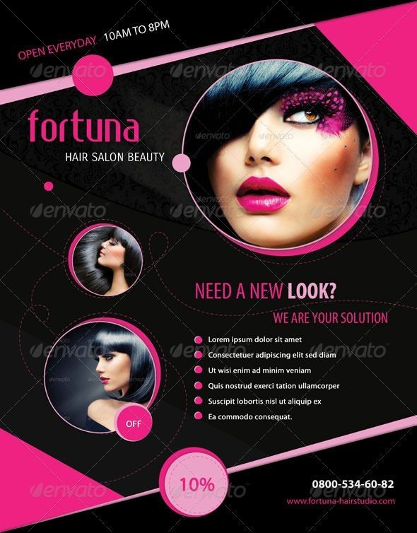 Hair Stylist Hair Salon Flyer Templates Free