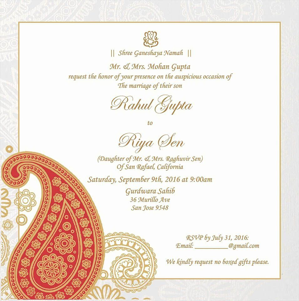 Hindu Indian Wedding Invitation Templates