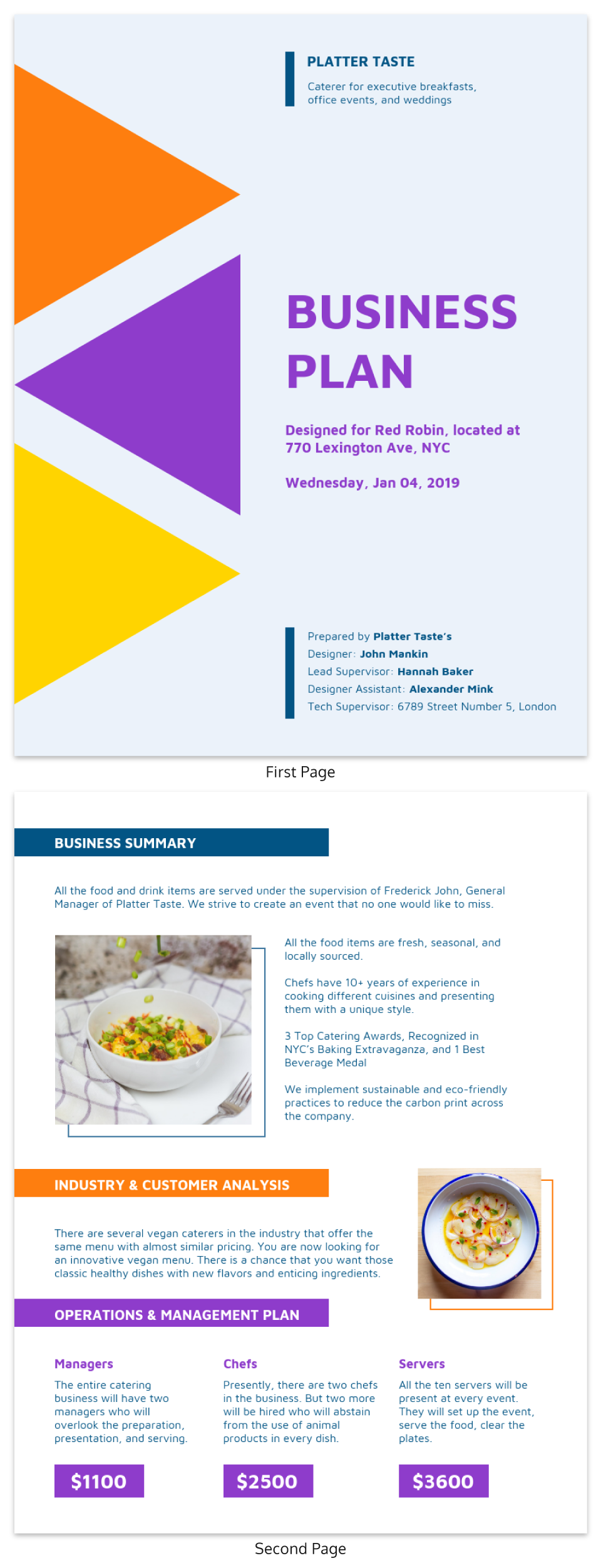 Hospitality Business Plan Template