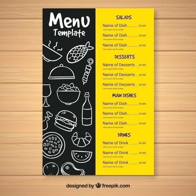 Indian Restaurant Menu Card Templates Free Download