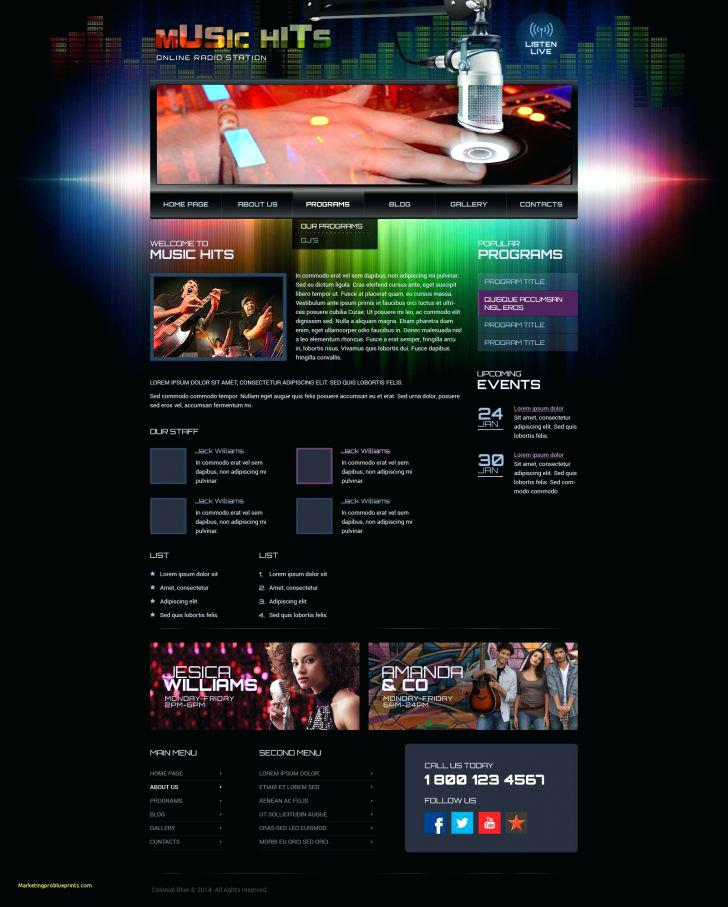 Internet Radio Website Templates Free