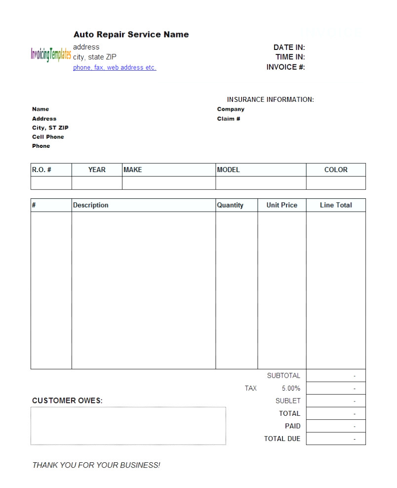 Invoice Templates For Quickbooks Desktop