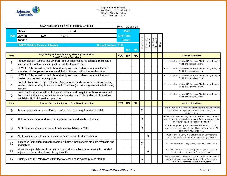 It Audit Plan Template Excel