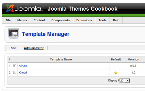 Joomla Administrator Templates