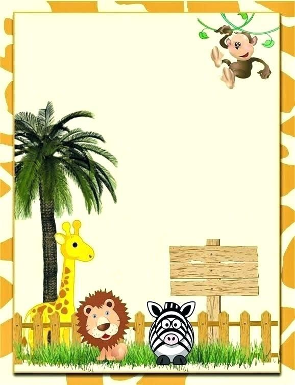 Jungle Theme Birthday Invitation Template Free