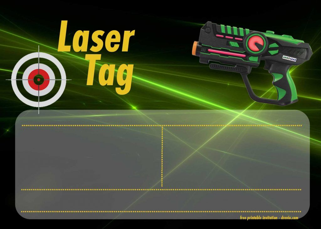 Laser Tag Invitations Templates Free