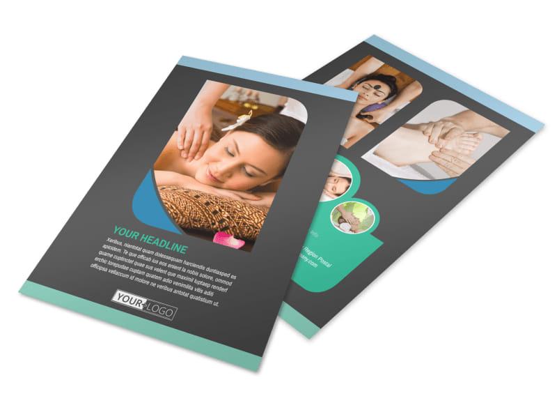 Massage Therapy Flyer Template Free