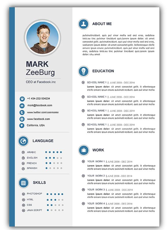 Microsoft Cv Template Word Free Download