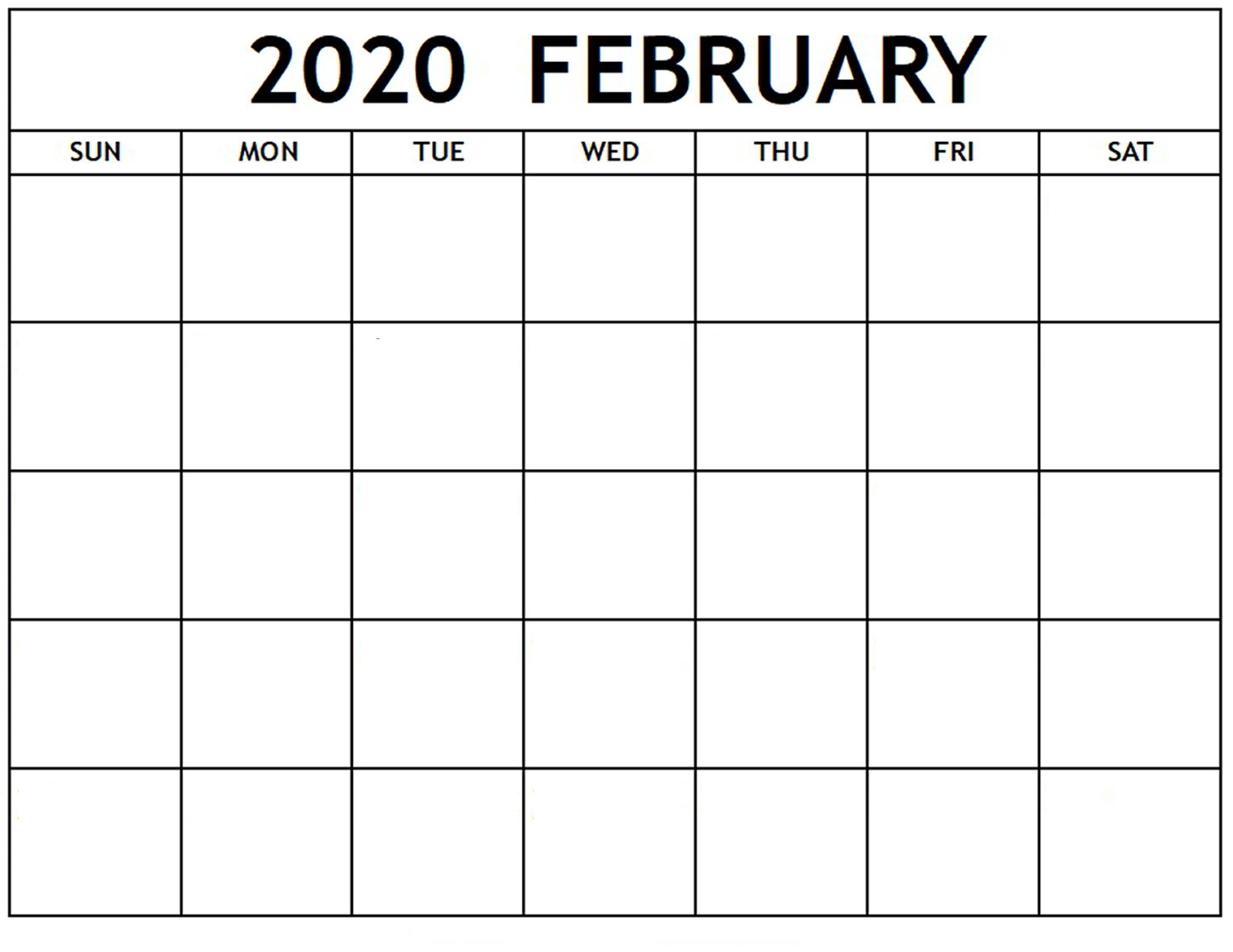 Monthly Schedule Blank Printable Calendar Template 2020