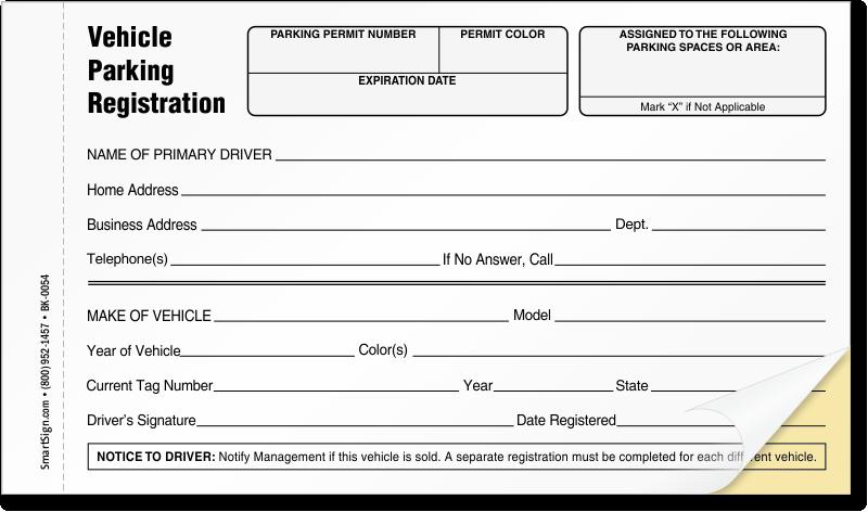 Parking Permit Templates