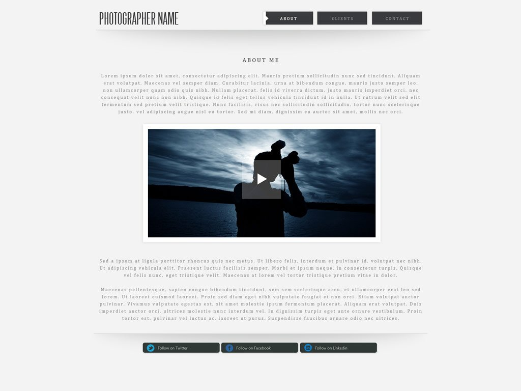 Photography Websites Templates Free Download
