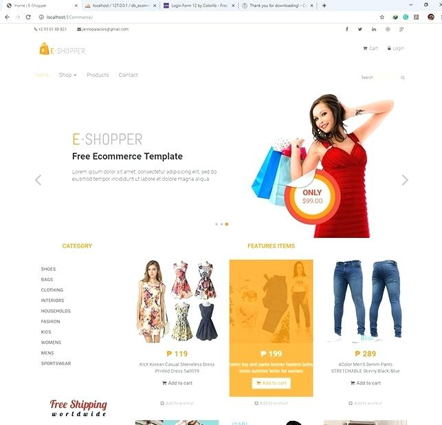 Php Ecommerce Template Free