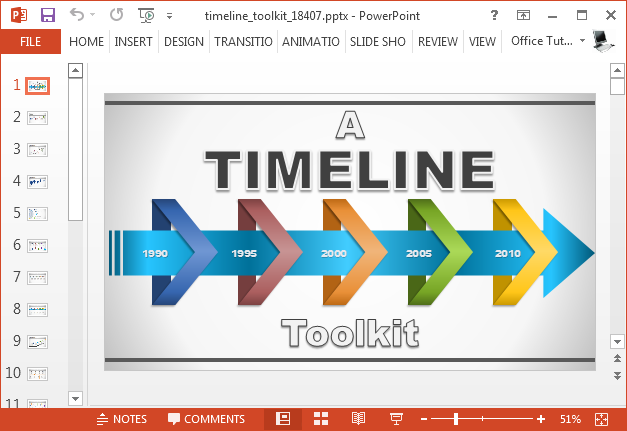 Powerpoint Template Timeline Maker Powerpoint