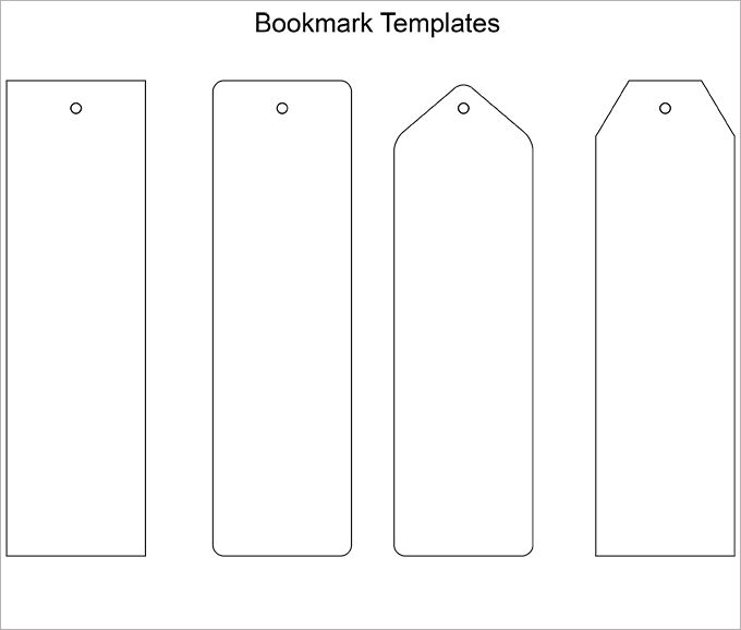 Printable Blank Bookmarks Template