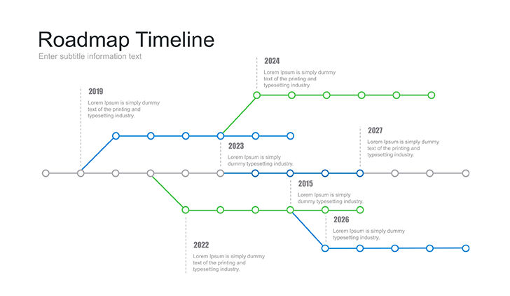 Roadmap Presentation Template Free Download
