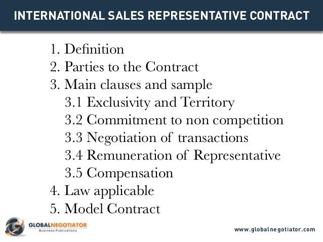 Sales Representative Contract Template