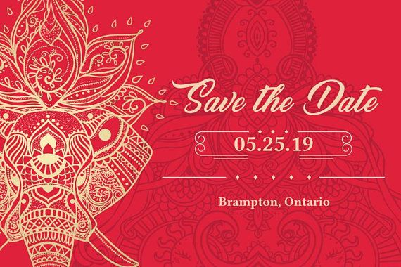 Save The Date Indian Wedding Template