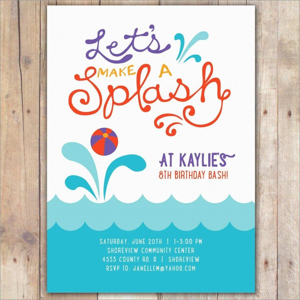 Swimming Pool Party Invitation Free Template