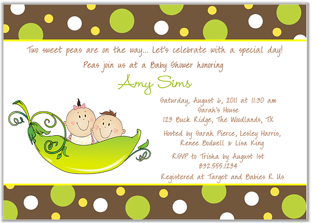 Templates For Baby Shower Invites