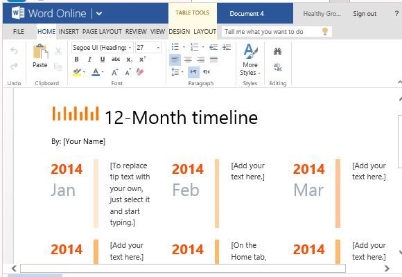 Timeline Maker Template Word