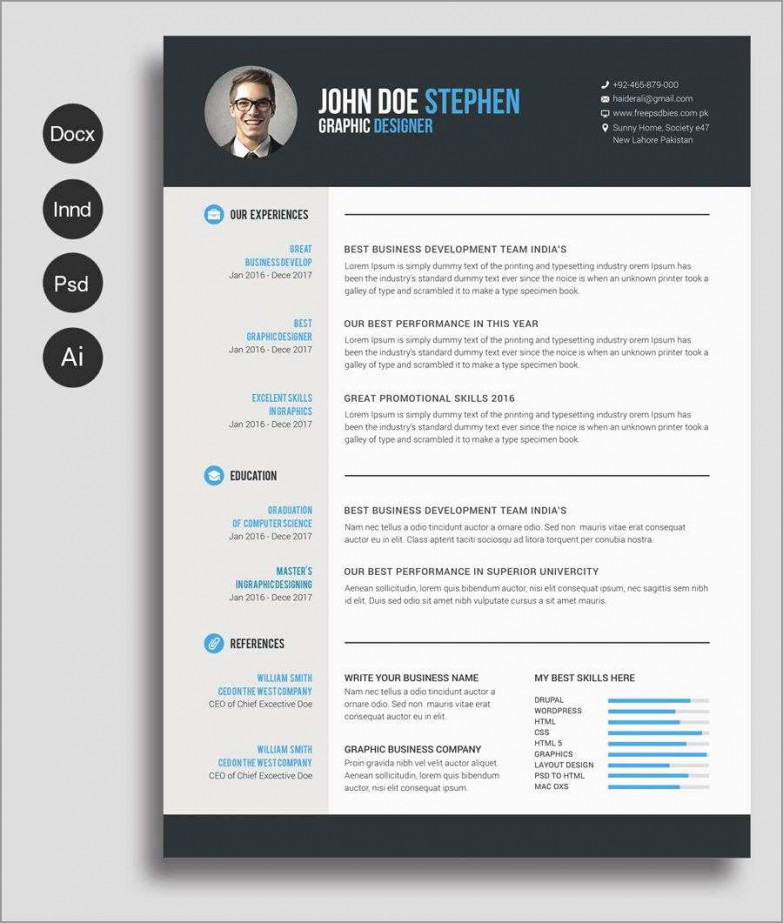 Word Document Cv Template Free Download Word