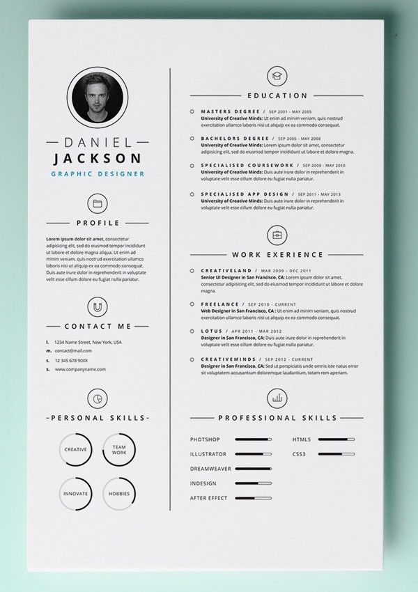 Word Document Downloadable Free Resume Templates
