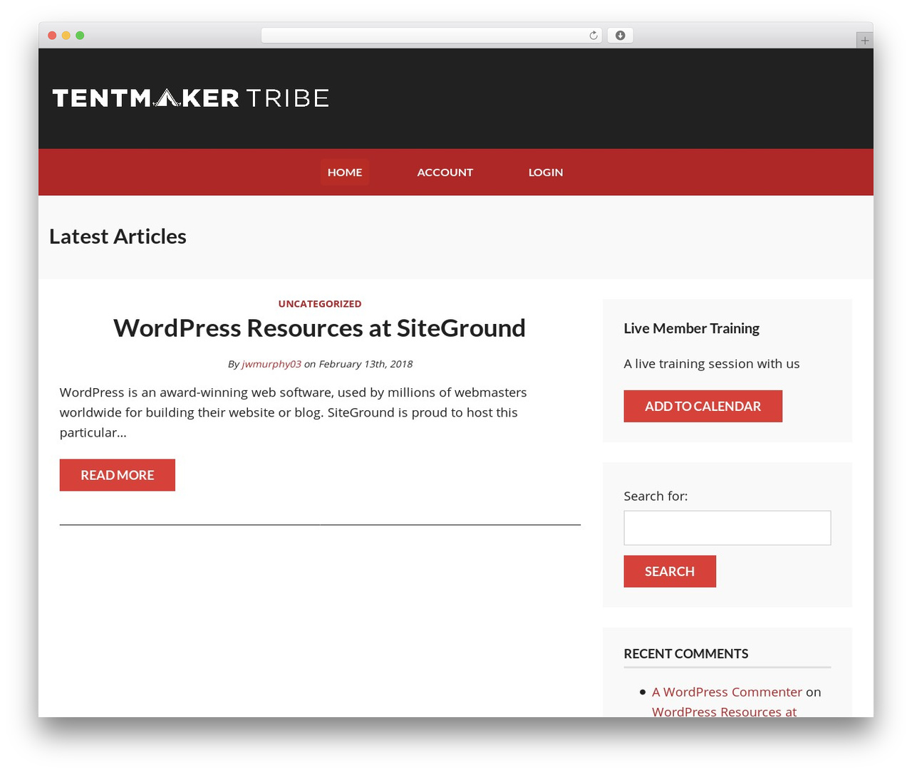 Wordpress Membership Template