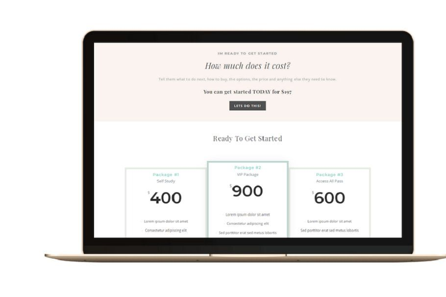 Wordpress Sales Page Template