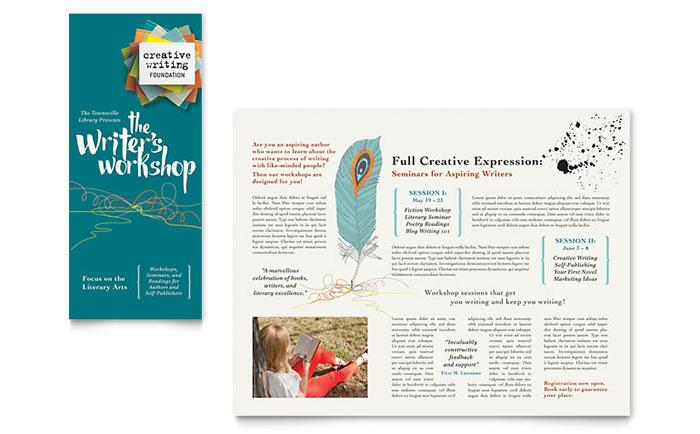 Workshop Brochure Template Word