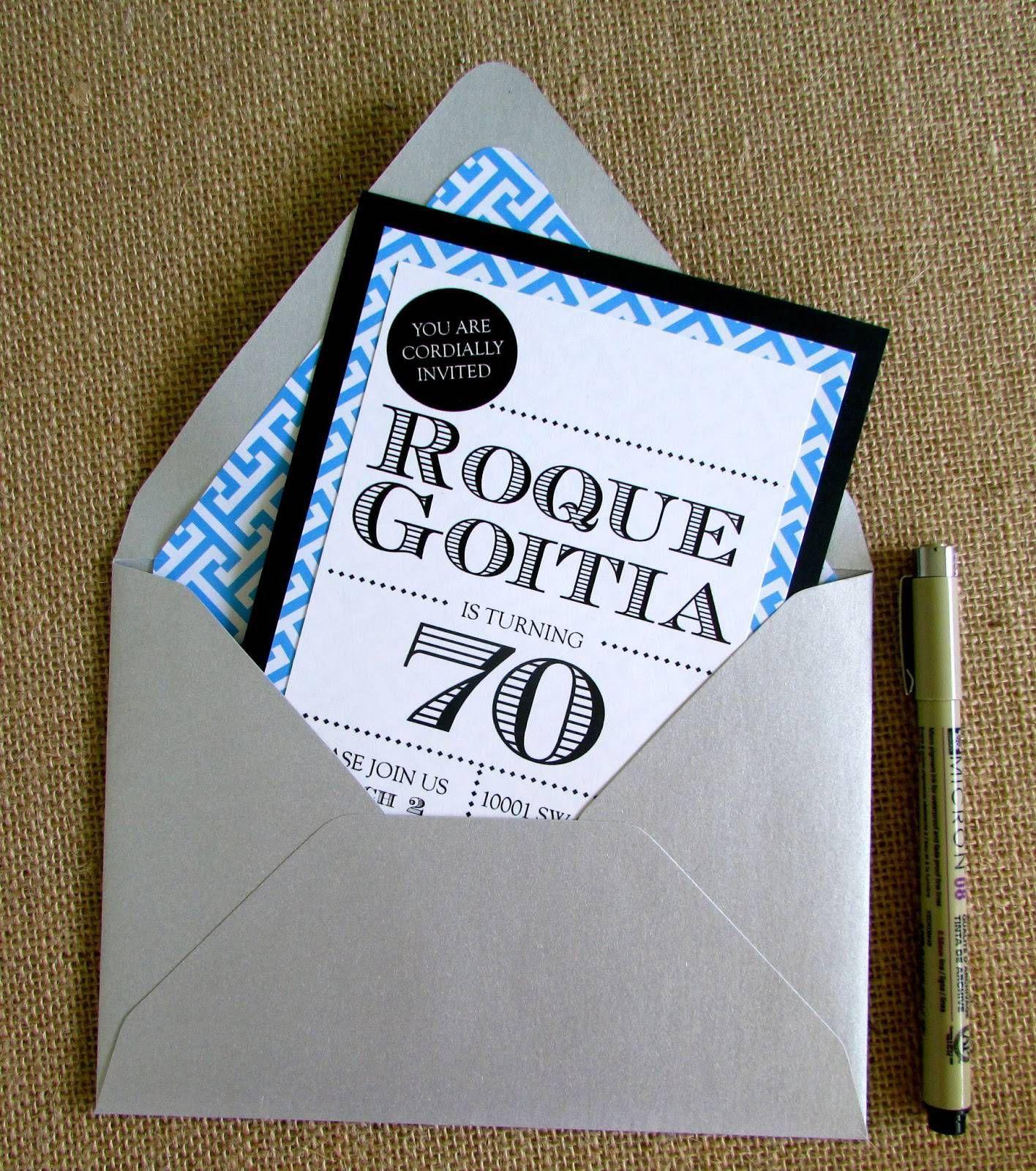 70th Birthday Invites Templates