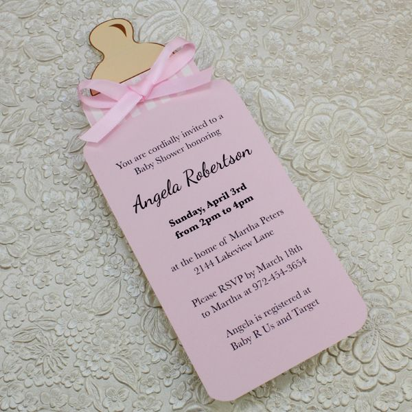 Baby Girl Baby Shower Invites Template