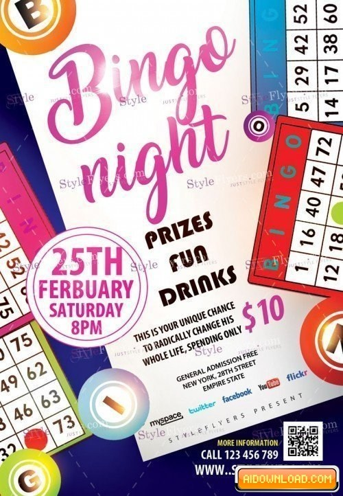 Bingo Flyer Template Free