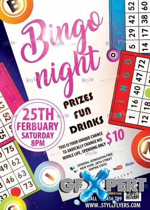 Bingo Night Flyer Template Free