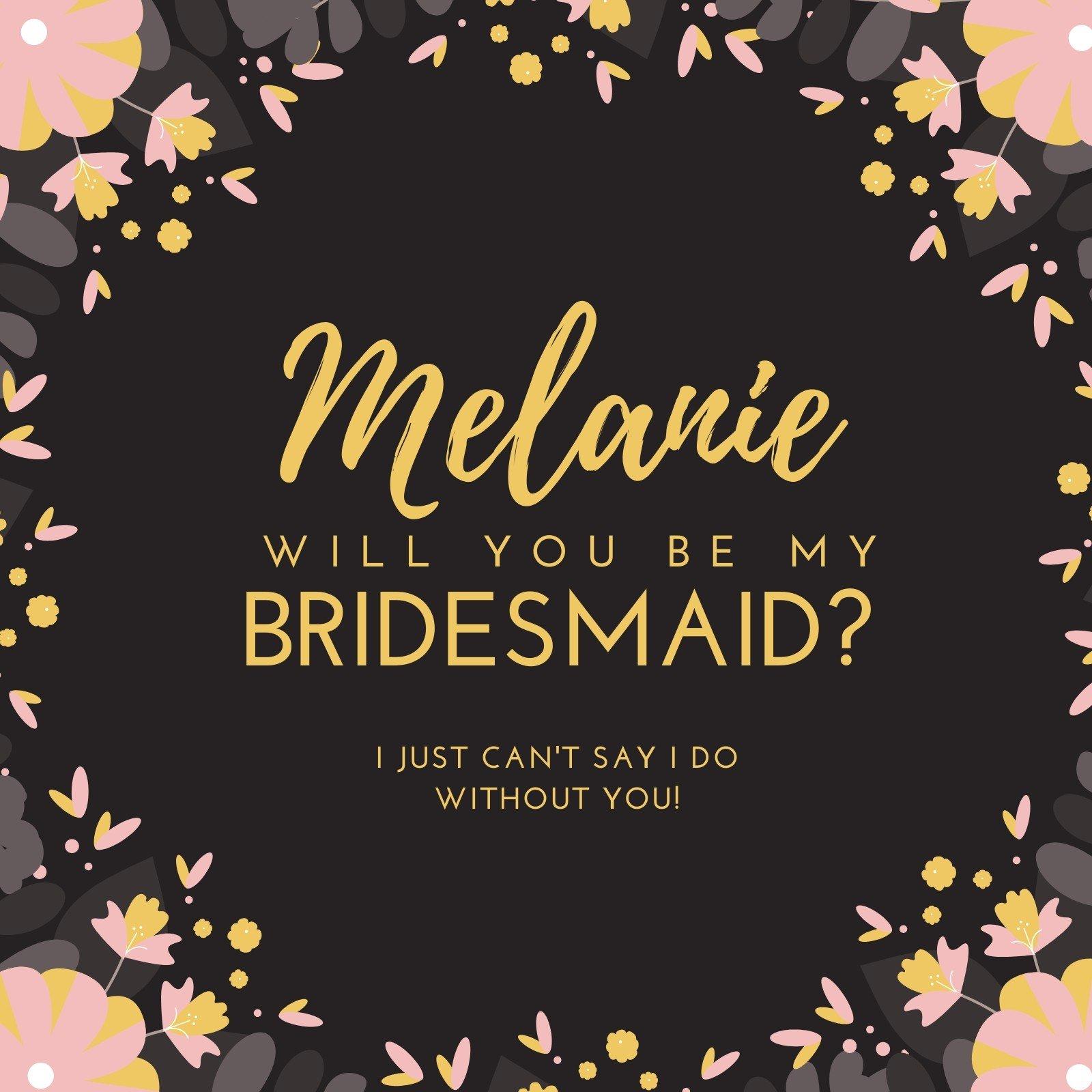 Bridesmaid Invitation Templates