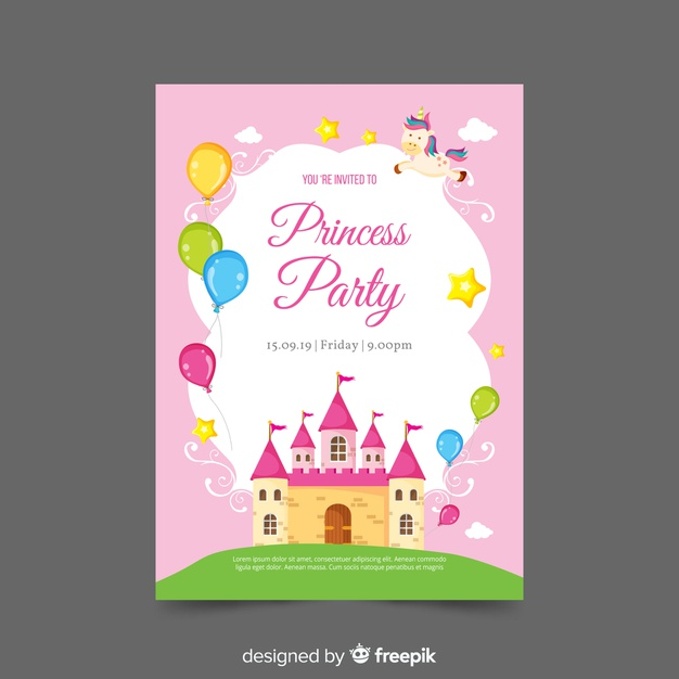 Castle Invitation Template Free