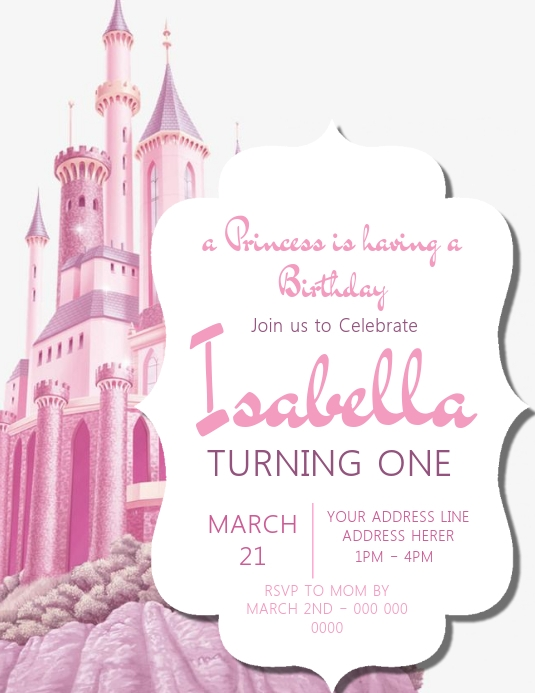 Castle Invitation Template