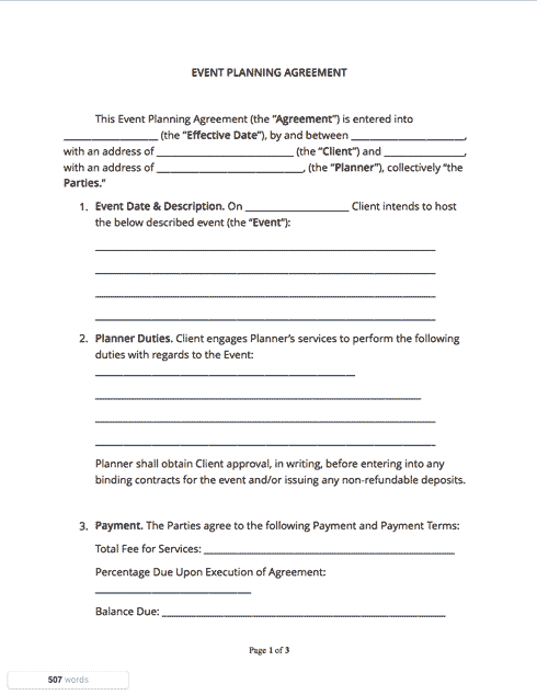 Contracts And Agreements Templates