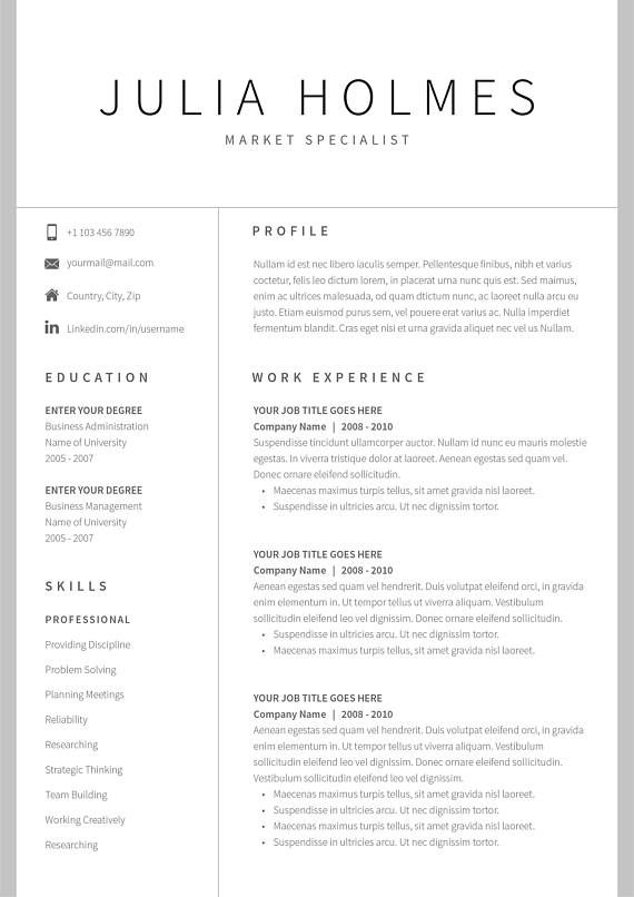 Cv Template For Mac
