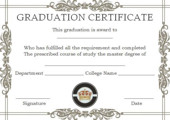 Degree Certificate Templates Free