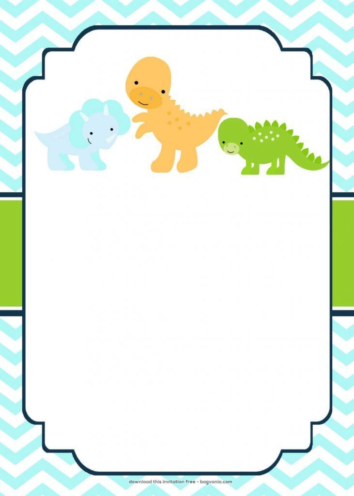 Dinosaur Invitation Templates