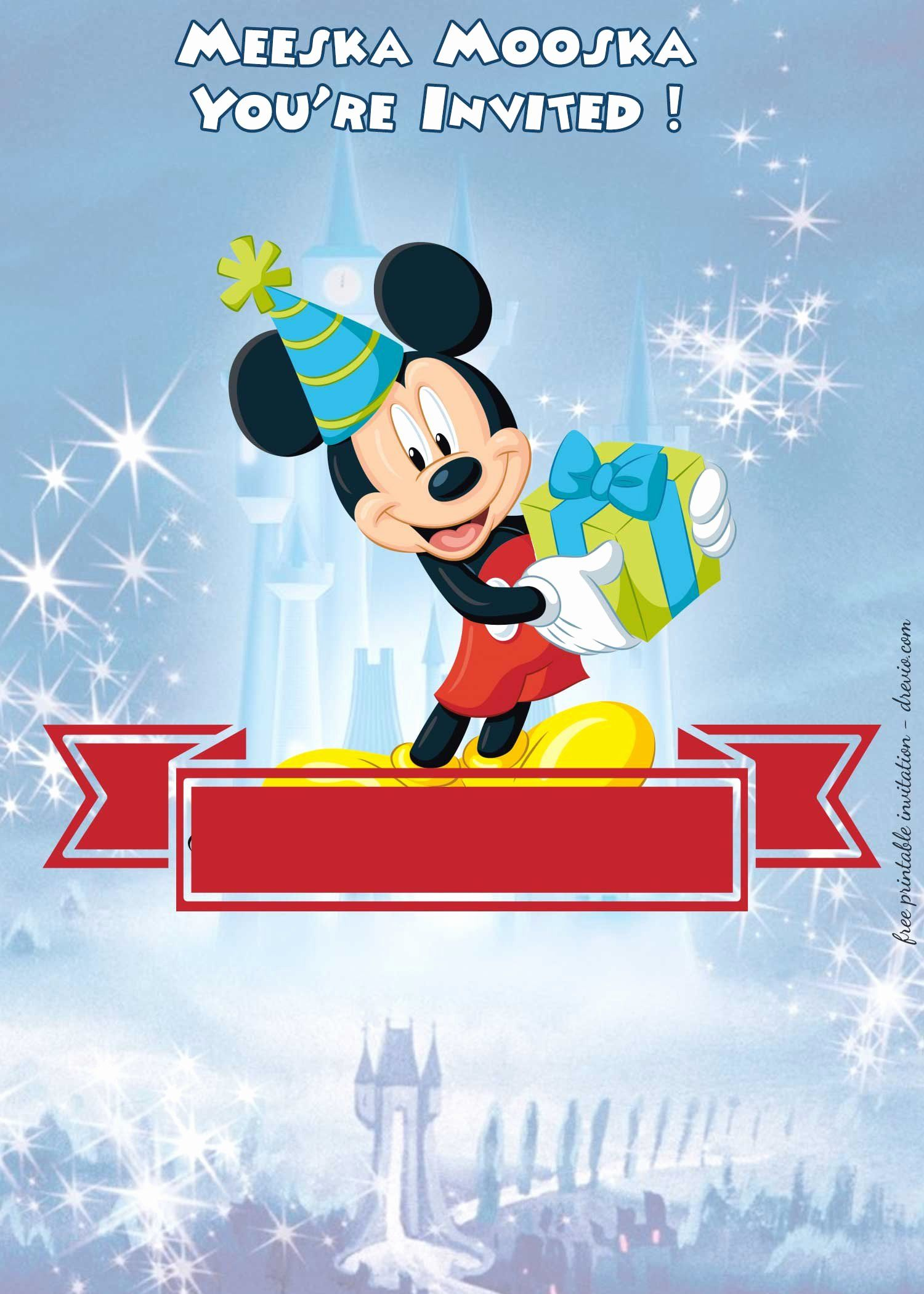 Disney Castle Invitation Template