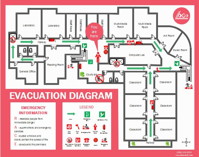 Emergency Evacuation Floor Plan Template