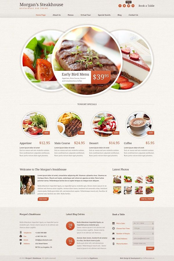 Food Websites Templates