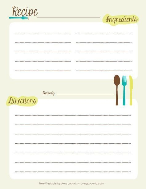 Free Recipe Book Templates For Word