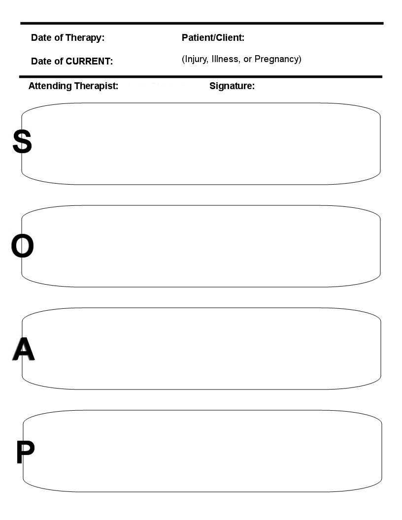 Massage Therapy Soap Notes Templates Free