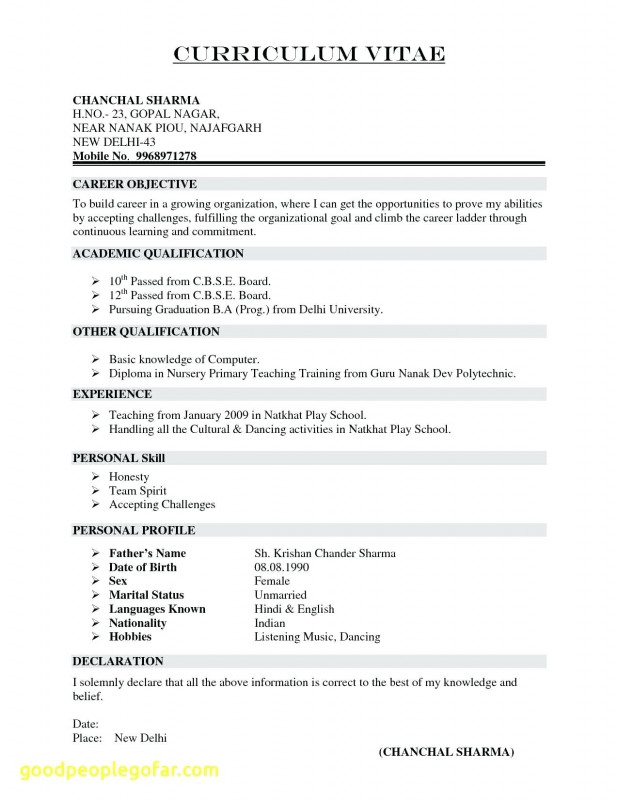 Microsoft Word Free Blank Resume Templates