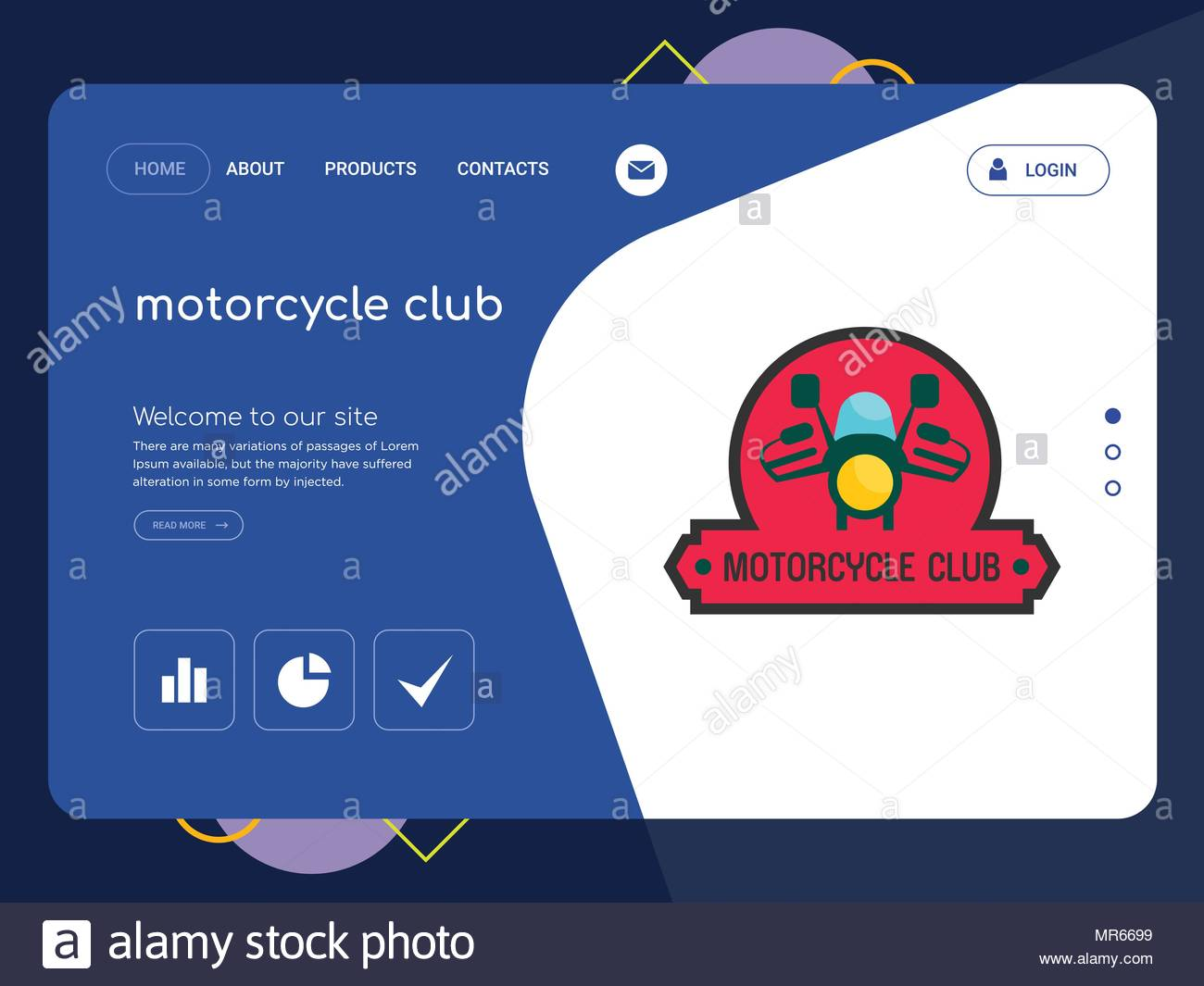 Motorcycle Club Website Template
