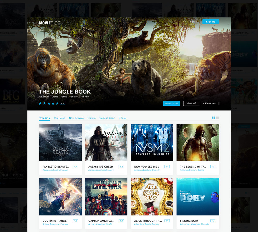 Movie Review Website Template Free Download