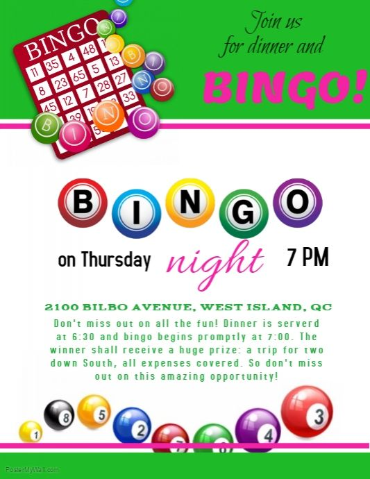 Printable Free Bingo Flyer Template Word