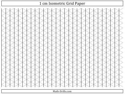 Printable Isometric Grid Template